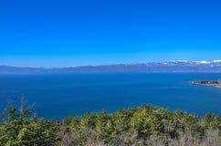 """Panorama del †del lago ohrid, Macedonia """" fotografie stock libere da diritti"""