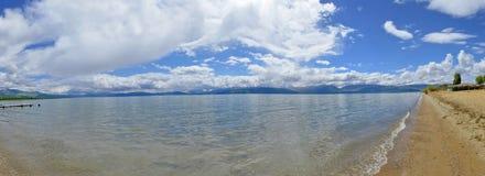 """Panorama del †del lago Prespansko - di Prespa, Macedonia """" fotografia stock"""