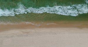 Panorama del abejón de la playa de Barra da Tijuca, Rio de Janeiro, el Brasil foto de archivo libre de regalías