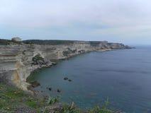 Panorama del acantilado de Bonifacio en paisaje corso Fotografía de archivo