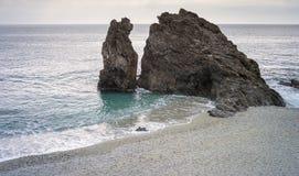 Panorama del acantilado del mar Imagen del color Fotografía de archivo libre de regalías