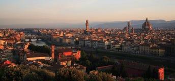 Panorama del amanecer de Florencia Foto de archivo libre de regalías