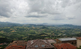 Panorama del Apennines italiano Immagini Stock Libere da Diritti