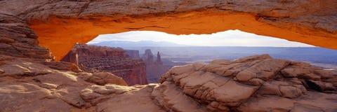 Panorama del arco del Mesa Fotografía de archivo libre de regalías