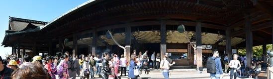Panorama del balcón en el templo de Kiyomizu, Kyoto Imagen de archivo libre de regalías