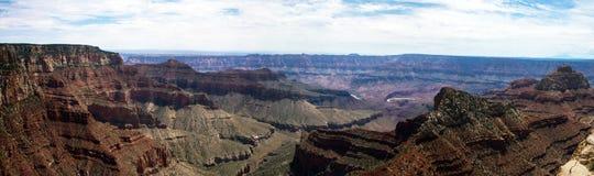 Panorama del borde del norte de Grand Canyon del cabo real Imagen de archivo