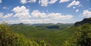 Panorama del bosque del Estado de Nantahala Imagen de archivo libre de regalías