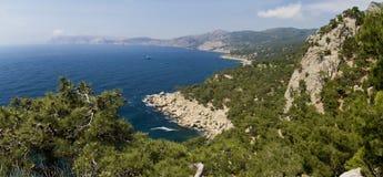 Panorama del cabo de Aya Imagen de archivo