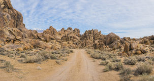Panorama del camino de tierra de California Fotografía de archivo libre de regalías