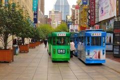 Panorama del camino famoso de Nanjing en Shangai China Imagenes de archivo