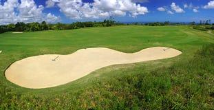 Panorama del campo de golf Foto de archivo libre de regalías