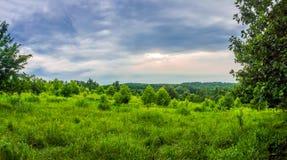 Panorama del campo de Susquehanna Imágenes de archivo libres de regalías