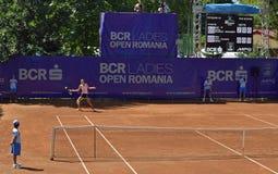 Panorama del campo de tenis imagen de archivo