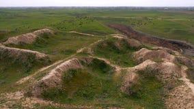 Panorama del campo del top de la colina metrajes