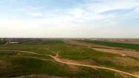 Panorama del campo del top de la colina almacen de video