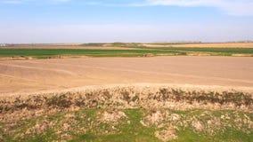 Panorama del campo del top de la colina almacen de metraje de vídeo