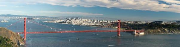 Panorama del cancello dorato Fotografie Stock Libere da Diritti
