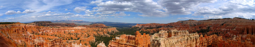 Panorama del canyon di Bryce Immagine Stock Libera da Diritti