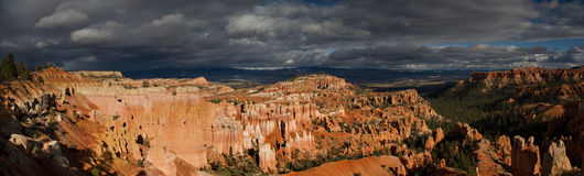 Panorama del canyon di Bryce Immagine Stock