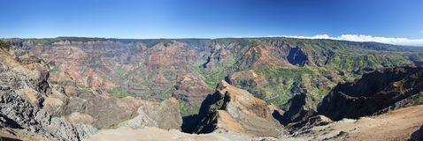 Panorama del canyon di Waimea, Kauai Fotografia Stock