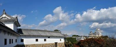 Panorama del castello del Giappone Himeji Fotografia Stock