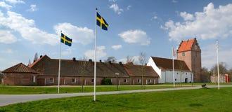 Panorama del castello di Backaskog Fotografia Stock Libera da Diritti