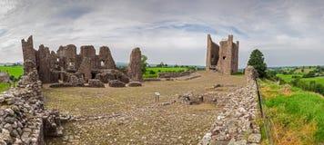 Panorama del castello di Brough Immagine Stock