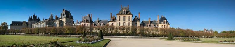 Panorama del castello di Fontainebleau Immagine Stock Libera da Diritti