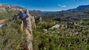 Panorama del castello di Guadalest Immagine Stock Libera da Diritti