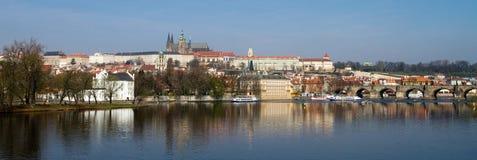 Panorama del castello di Praga Fotografia Stock Libera da Diritti