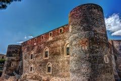 Panorama del Castello Ursino Fotografia Stock Libera da Diritti