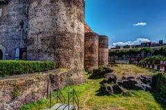 Panorama del Castello Ursino Fotografie Stock