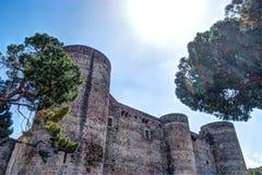 Panorama del Castello Ursino Immagini Stock