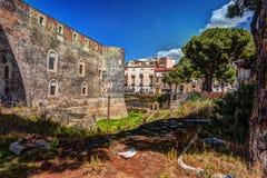 Panorama del Castello Ursino Fotografia Stock