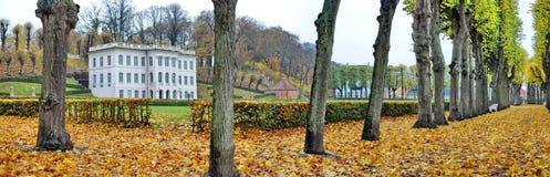 Panorama del castillo de Helsingor Marienlyst imagen de archivo