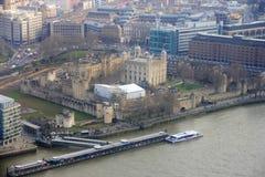 Panorama del castillo de la torre de Londres Fotos de archivo