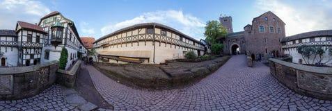 Panorama del castillo de Wartburg en Alemania Fotos de archivo