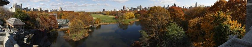 Panorama del Central Park dal castello di belvedere Immagini Stock Libere da Diritti
