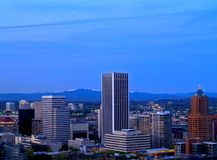 Panorama del centro 2 di Portland Fotografia Stock