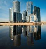 Panorama del centro de asunto internacional Foto de archivo libre de regalías