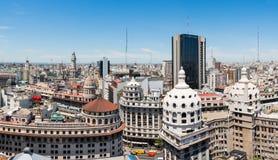 Panorama del centro de Buenos Aires Fotos de archivo libres de regalías