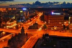 Panorama del centro de ciudad Kaliningrado Imagen de archivo libre de regalías