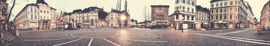 Panorama del centro de Ljubljana Fotografía de archivo libre de regalías
