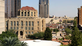 Panorama del centro degli edifici per uffici di Phoenix Immagine Stock