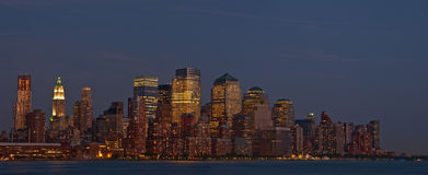 Panorama del centro dell'orizzonte di New York City Fotografia Stock Libera da Diritti