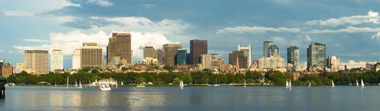 Panorama del centro di Boston Immagine Stock Libera da Diritti