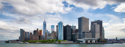 Panorama del centro di New York City Manhattan Immagine Stock