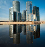 Panorama del centro internazionale di affari Fotografia Stock Libera da Diritti