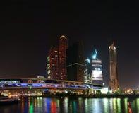 Panorama del centro internazionale di affari Immagine Stock Libera da Diritti