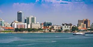 Panorama del centro urbano di Dar es Salaam Immagine Stock Libera da Diritti